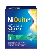 Niquitin Clear 21mg náplasti 7ks